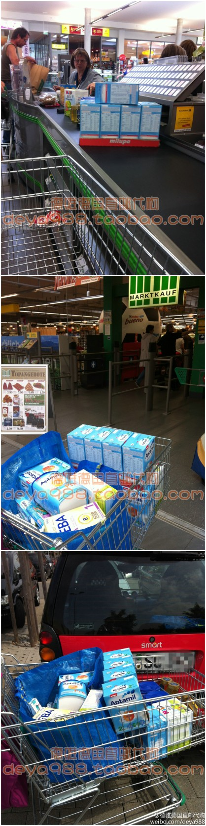 Chinese buying agency buying German milk powder