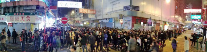 Standoffs over Hawker Control Team in Hong Kong
