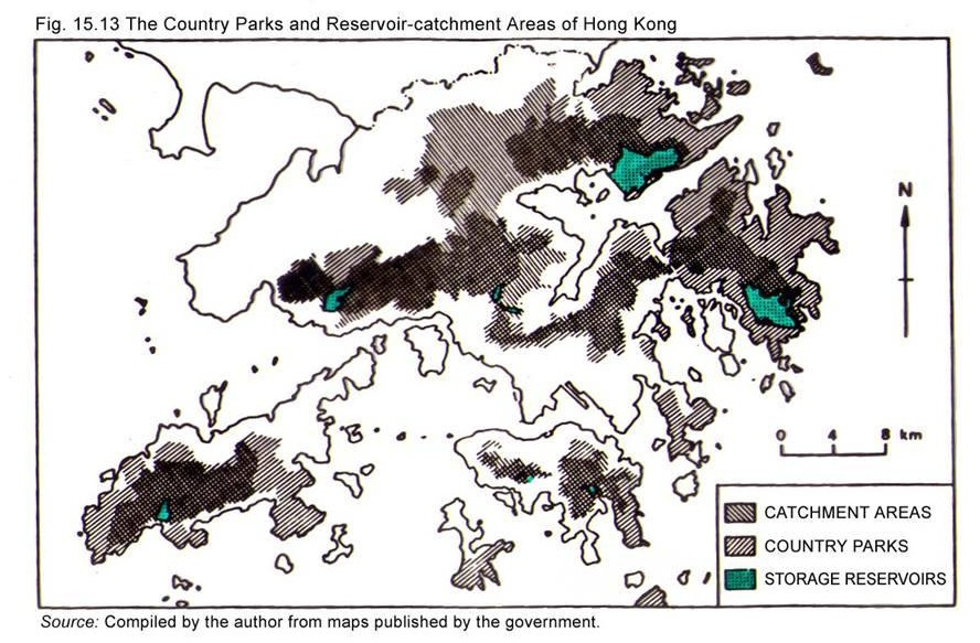 Hong Kong Reservoirs are protected by Country Parks