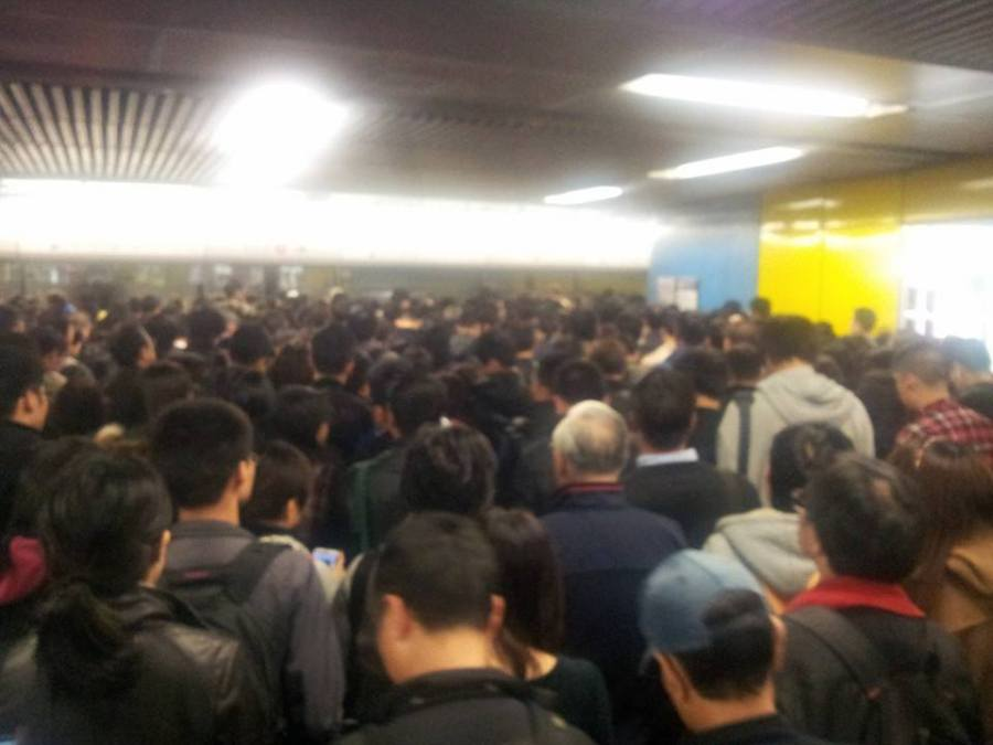 Hong Kong MTR Train can no longer deal with